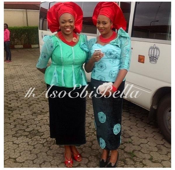 aso ebi nigerian traditional wedding red gele
