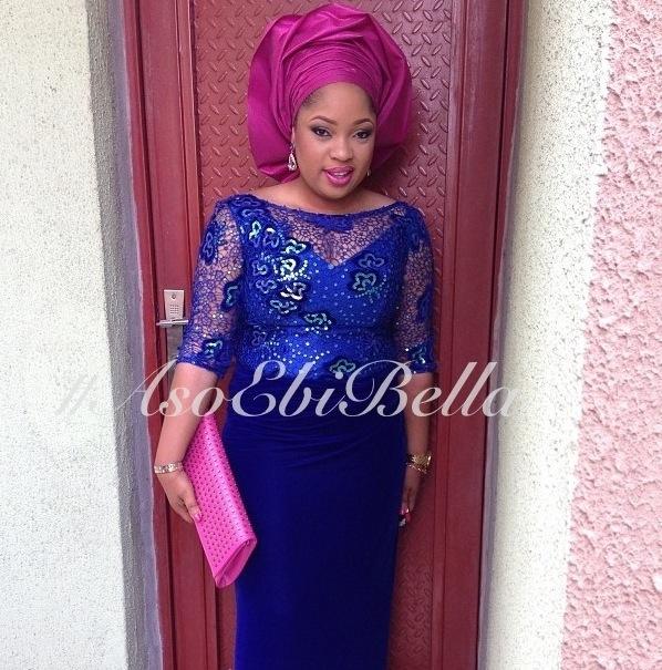 aso ebi nigerian traditional wedding gele purple blue