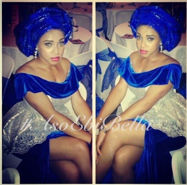 aso ebi nigerian traditional wedding blue gele gold