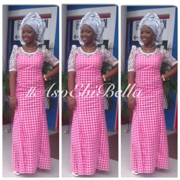 aso ebi nigerian traditional wedding gele pink