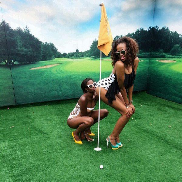 Lesbian golfers exposed