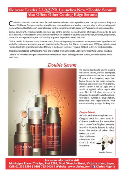 Clarins Serum - BellaNaija - August 2013 (1)
