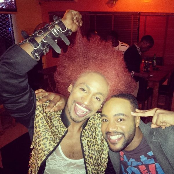 Denrele Edun and Hip TV presenter, Dayo look very 'new' in their makeup.