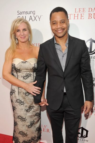 Sara Kapfer and Cuba Gooding Jr.