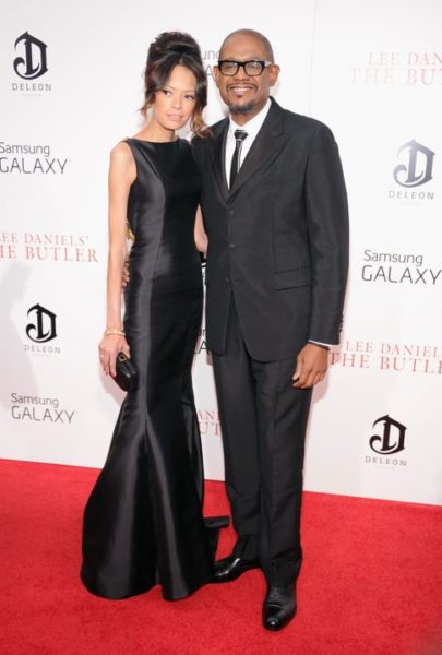 Forest Whitaker in Prada &  Keisha Nash Whitaker in Badgley Mischka