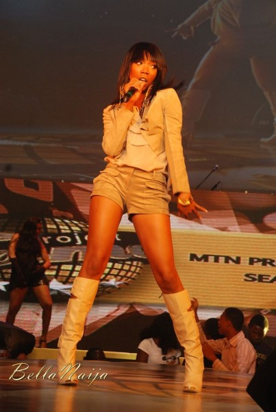 Brandy at the 2011 MTN Project Fame West Africa Gala