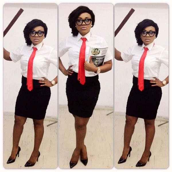 Mercy Aigbe pulls off the 'sexy school teacher'