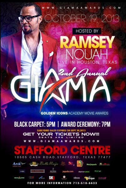 Ramsey Nouah Hosts 2nd GIAMA Awards - BellaNaija - August 2013
