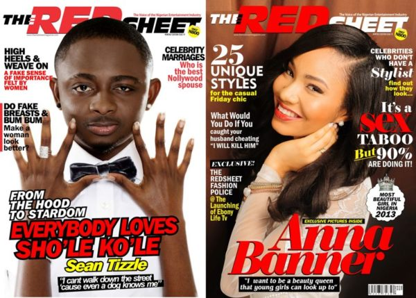 Sean Tizzle & Anna Ebiere Banner - The Red Sheet Magazine - August 2013 - BellaNaija