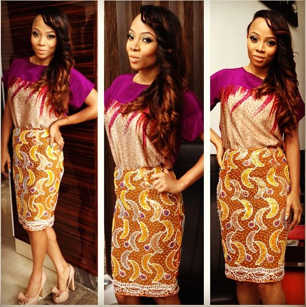 Toke Makinwa in Beatrice Black - August 2013 - BellaNaija