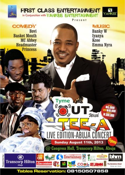 Tyme Out with Tee-A Live in Abuja Edition
