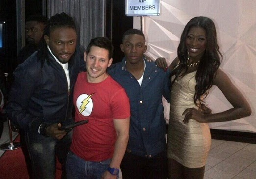 """""""Advertising for NOKIA LUMNIA & @DStv in South Africa! With @Miss_Vimbai and Lawrence! Tell me Isn't God good to me?"""""""