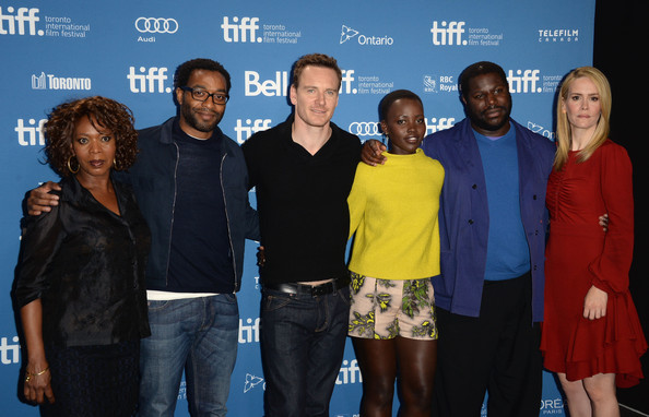 Alfre Woodard, Chiwetel Ejiofor, Michael Fassbender, Lupita Nyong'o, Steve McQueen & Sarah Paulson at the Press Conference
