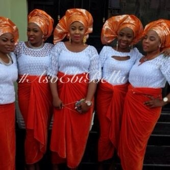 velvet lace aso ebi nigerian naija wedding bella naija