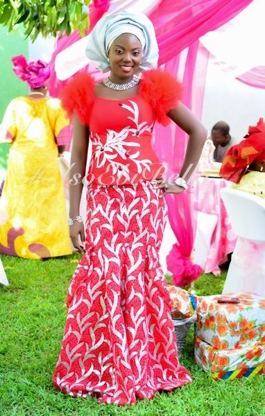 ankara lace aso ebi nigerian naija wedding bellanaija gele ichafu igbo yoruba feathers