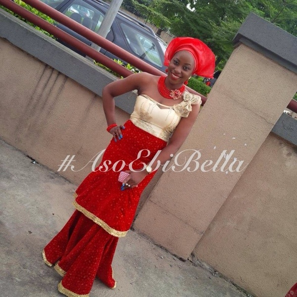 ankara lace aso ebi nigerian naija wedding bellanaija gele ichafu igbo yoruba red