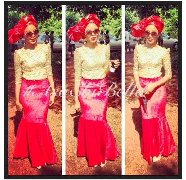 velvet lace aso ebi nigerian naija wedding bellanaija ghana