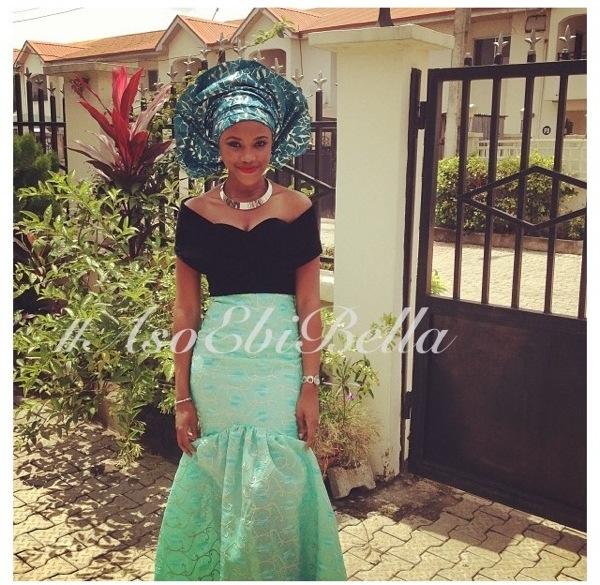 velvet lace aso ebi nigerian naija wedding bellanaija gele ichafu