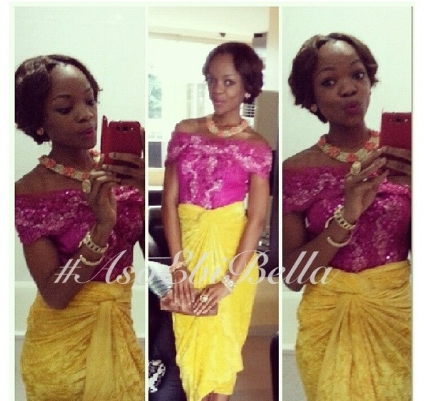 velvet lace aso ebi twins nigerian naija wedding bellanaija