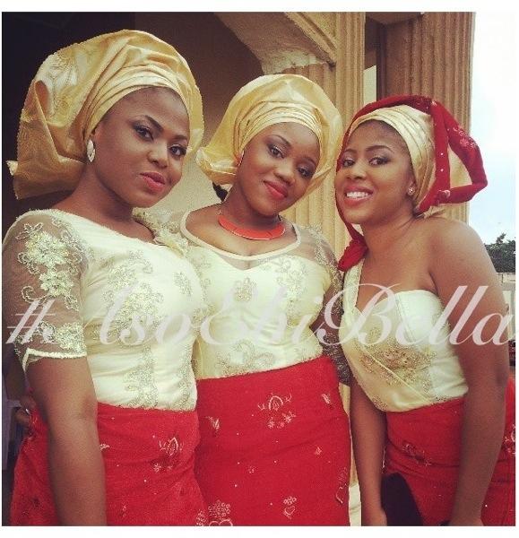 velvet lace aso ebi nigerian naija wedding bellanaija gele ichafu igbo