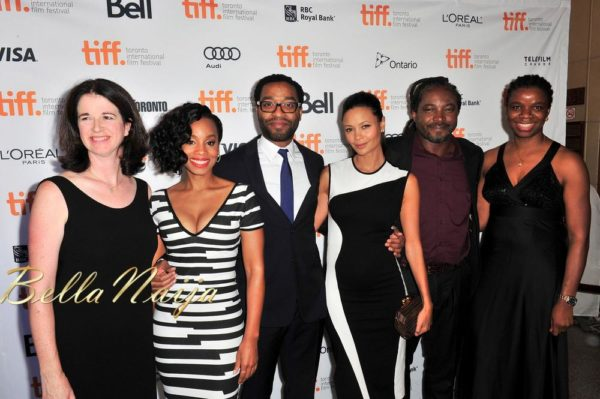 Andrea Calderwood (Producer), The movie cast, Biyi Bandele (Director), Yewande Sadiku (Executive Producer)