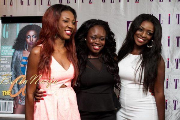 Roseline Okoro, Claudia Kwarteng (Publisher, Glitz Africa Magazine) & Yvonne Okoro