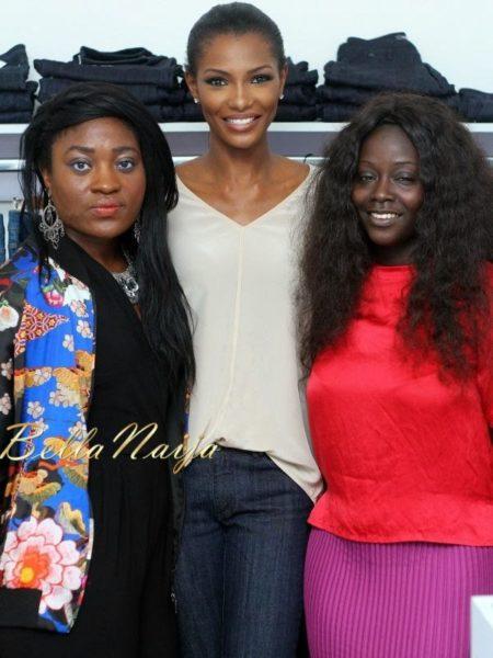 Rachel & Zandile (Deputy Editor & Editor, HelloMagazineNgeria) with Agbani