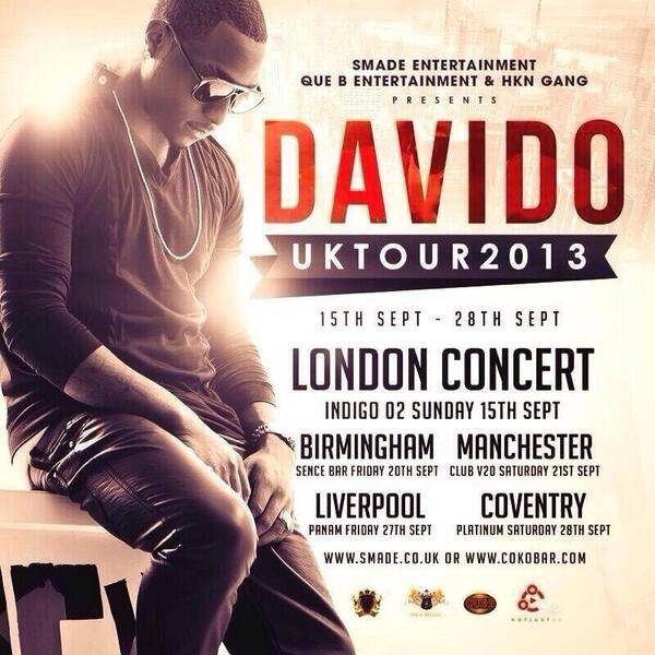 Davido UK Tour - September 2013 - BellaNaija