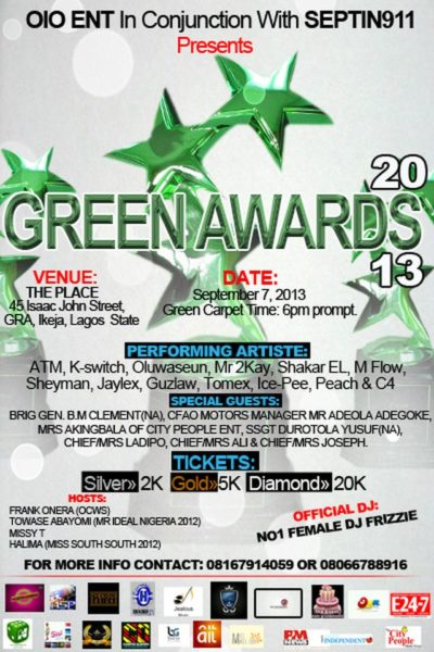 Green Awards 2013 - September 2013 - BellaNaija