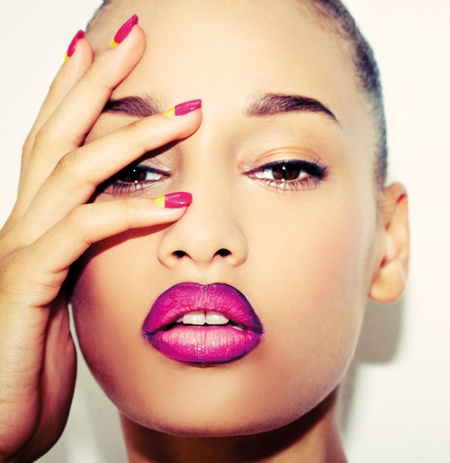 How to Achievce an Ombre Toned Lip - BellaNaija - September 2013
