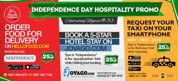 Independence Day Hospitality Promo - BellaNaija - September 2013