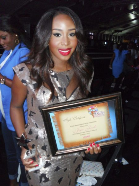 Joyce Jacob Beauty Makeup Artiost of the Year by Vanguard Allure - BellaNaija -September 2013 (2)