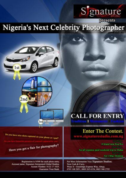 Nigeria's Next Celebrity Photographer - September 2013 - BellaNaija