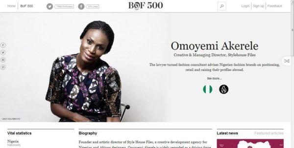Omoyemi Akerele BOF500