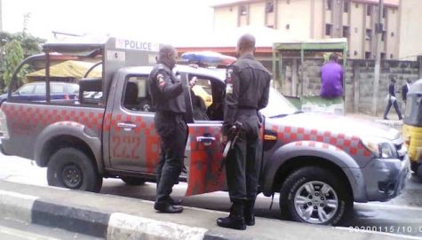 Police Officers are Stationed at UNILAG Gate - September 2013 - BellaNaija - 021