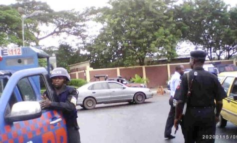 Police Officers are Stationed at UNILAG Gate - September 2013 - BellaNaija - 026