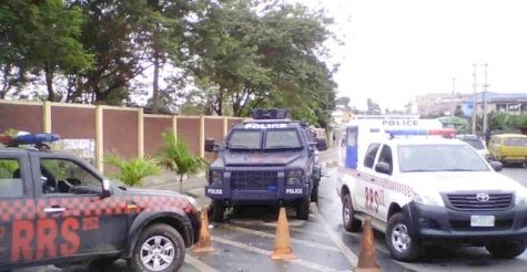 Police Officers are Stationed at UNILAG Gate - September 2013 - BellaNaija - 028