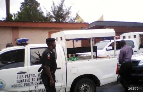 Police Officers are Stationed at UNILAG Gate - September 2013 - BellaNaija - 032