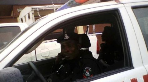 Police Officers are Stationed at UNILAG Gate - September 2013 - BellaNaija - 034