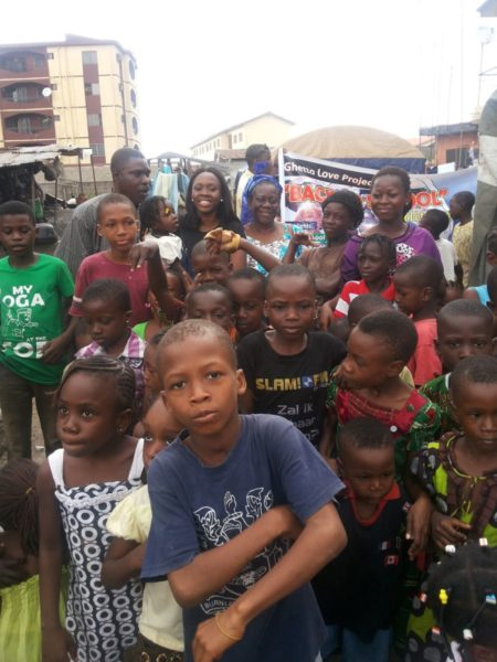 TV Personality Ariyike Akinbobola donates Back-To-School Items for Children in Ajegunle- September 2013 - BellaNaija - 025