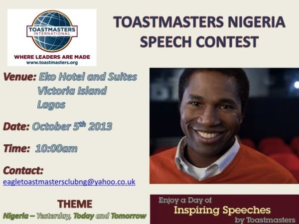 Toastmasters Nigeria Speech Contest - BellaNaija - September 2013