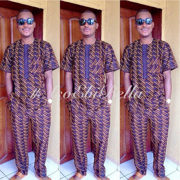 nigerian naija aso ebi traditional wedding ankara man