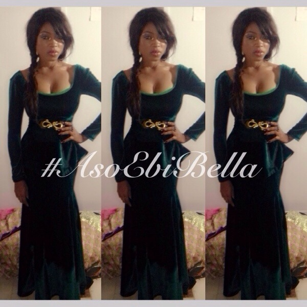 aso ebi asoebi bellanaija nigerian wedding guest velvet emerald green