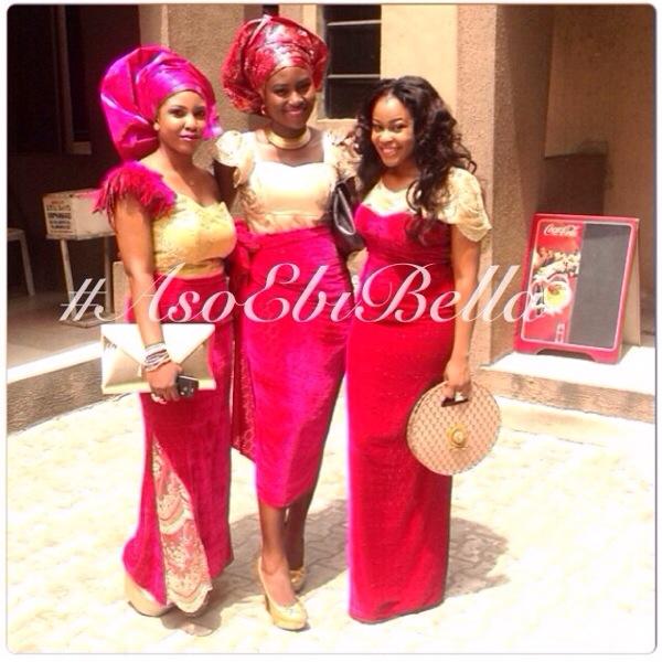 aso ebi asoebi bellanaija nigerian wedding guest velvet gele