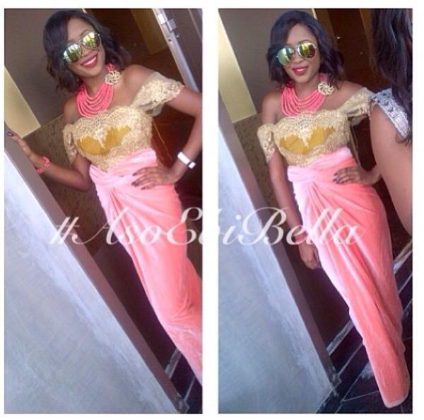aso ebi asoebi asoebibella nigerian wedding guest bellanaija velvet knot wrapper