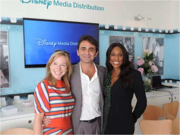 Catherine Powell (SVP & GM, Media Distribution, The Walt Disney Company),  Giovanni Mastrangelo (General Manager, Disney Media Distribution, Emerging Markets), Mo Abudu (Chairman & CEO, EbonyLife TV)