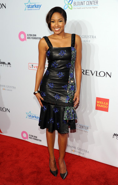Alicia Quarles in Jewel By Lisa AutumnWinter 2013 Collection at Elton John AIDS Benefit - BellaNaija - October 2013 (2)