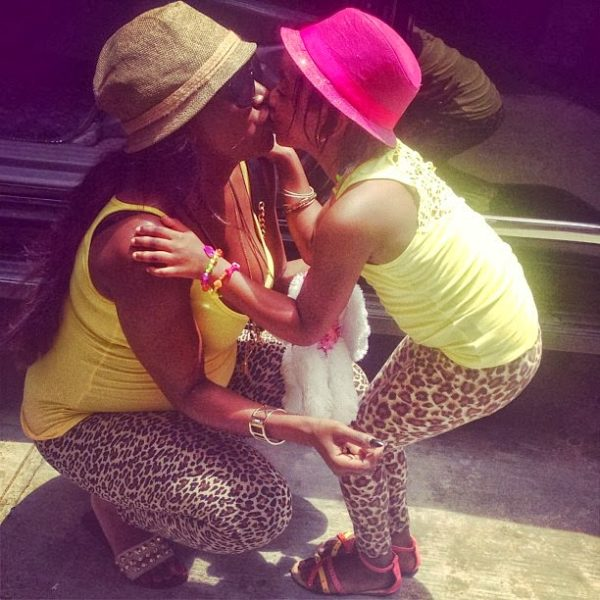 Aren't Annie and Isabel Idibia just so adorable?