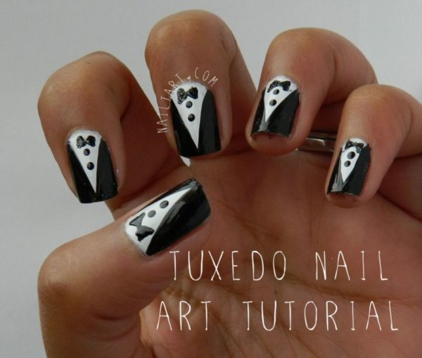 BN Do It Yoursefl Tuxedo Nails - BellaNaija - October 2013 (2)