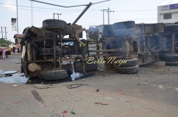 BN Exclusive -Truck collapses in Maryland, Lagos - October 2013 - BellaNaija009